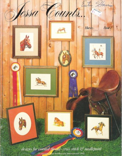 Jessa Counts Horses Book 2 Counted Cross Stitch