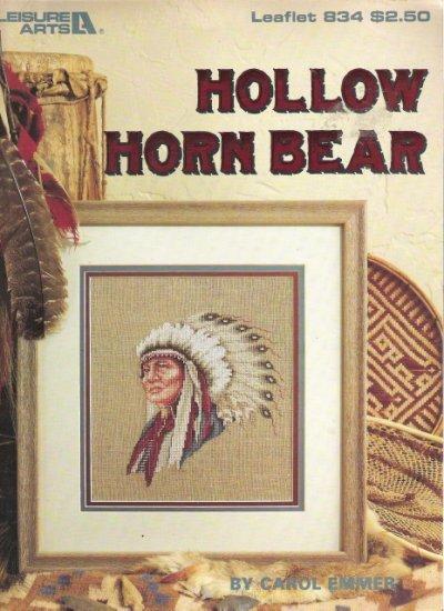 Leisure Arts Leaflet 834 Hollow Horn Bear Cross Stitch