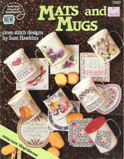 American School of Needlework #3583 Mats and Mugs