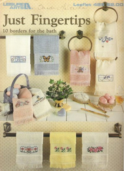 Leisure Arts Leaflet 485 Just Fingertips Cross Stitch Book