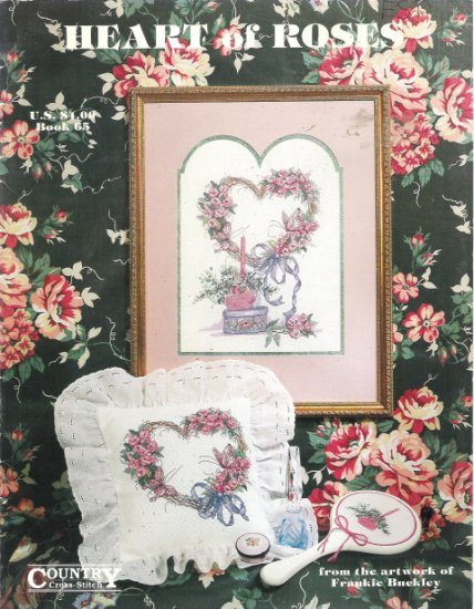 Heart of Roses Country Cross Stitch