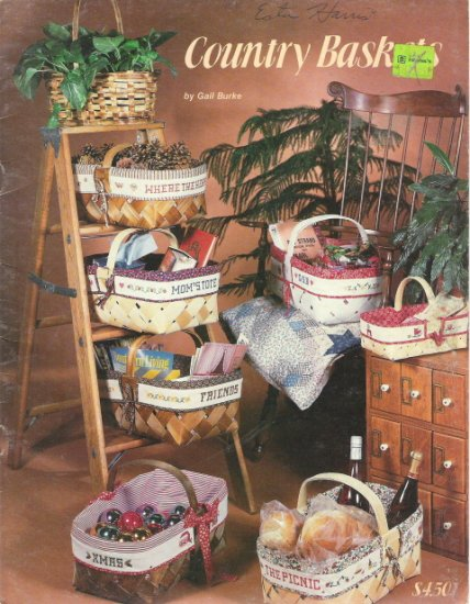 Country Baskets Cross Stitch Book