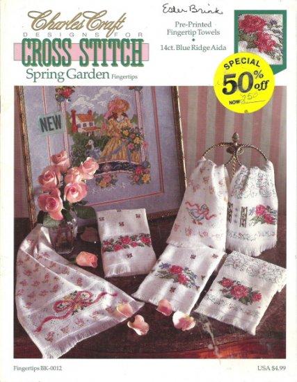Charles Craft Designs for Cross Stitch Spring Garden Fingertip Towels