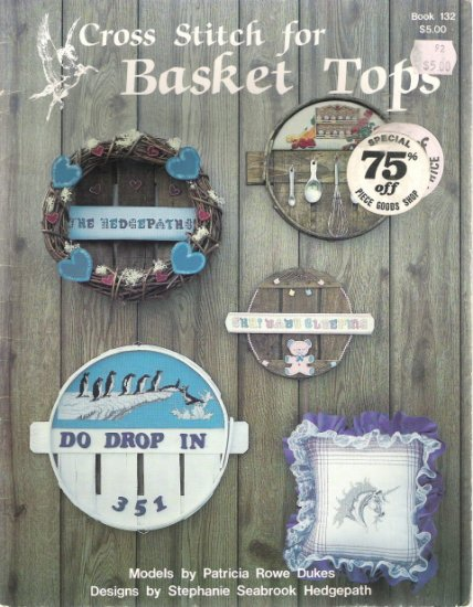 Cross Stitch for Basket Tops Book 132