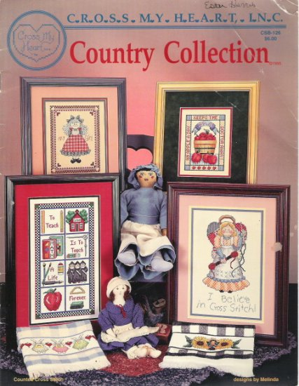 Cross My Heart Country Collection CSB-126 Cross Stitch Book
