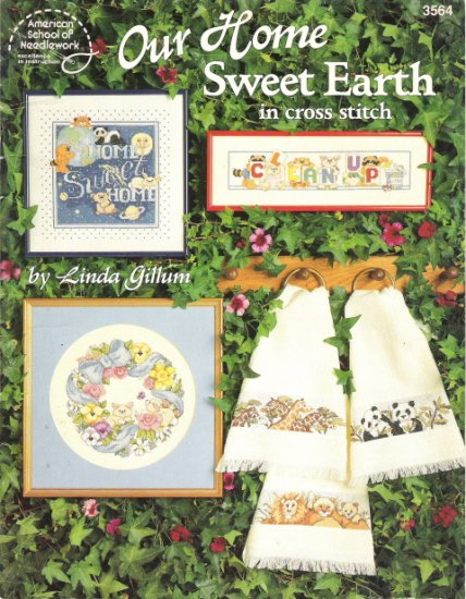 American School of Needlework #3564 Our Home Sweet Earth in Cross Stitch