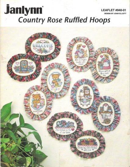 Janlynn Country Rose Ruffled Hoops Leaflet 940-01