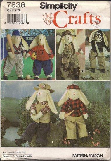 "Simplicity Crafts 7836  19"" Boy Bunny with Clothes"