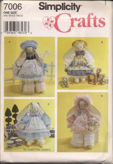 """Simplicity Crafts 7006  18"""" Bunny and Clothes"""