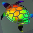 "10"" Holographic TURTLE Car Window Decal Sticker terrapin tortoise turtles"