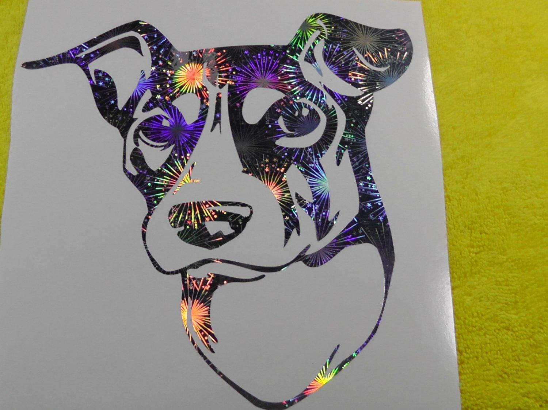 Brazilian Terrier Fox Paulistinha Dog Breed Holographic Fireworks Vinyl Car Window Laptop Decal