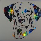 Dalmatian Dog Breed Holographic Fireworks Vinyl Car Window Laptop Decal
