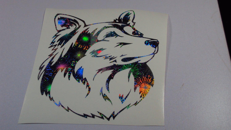 Shetland Sheepdog Sheltie Shelties Dog Holographic Fireworks Car Window Laptop Decal