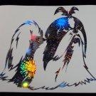Shih Tzu Dog Breed Holographic Fireworks Car Window Laptop Decal