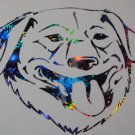 Golden Retriever Dog Breed Lab Labrador Holographic Fireworks Car Window Laptop Decal Sticker