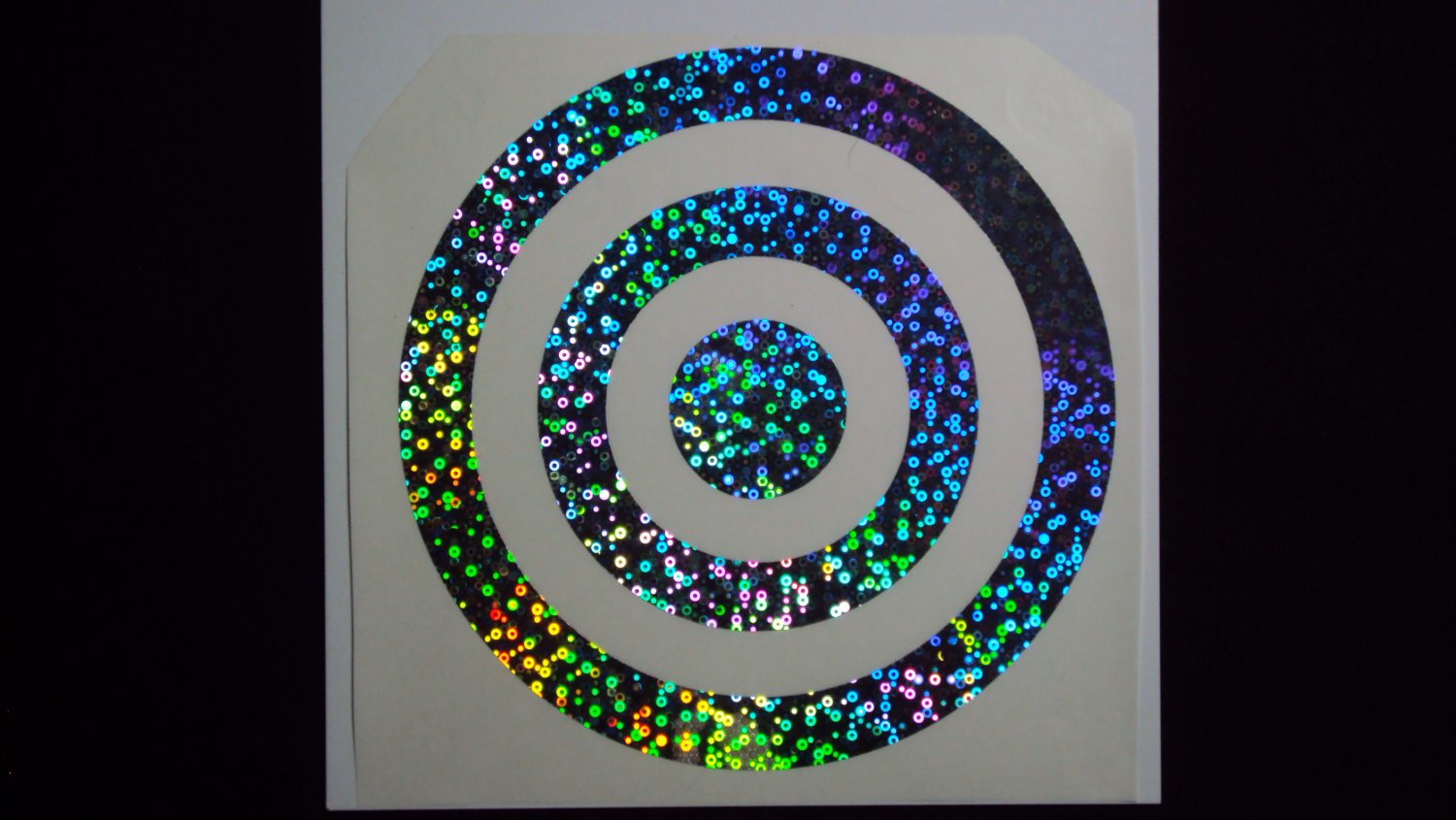 "8"" TARGET Holographic Bubbles Car Window Laptop Decal Sticker"