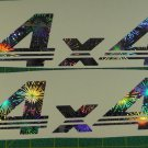 Holographic Fireworks 4X4 4 X 4 Car Window/Body Decal Sticker Pair Set of 2