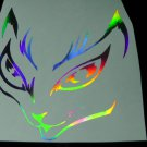 Holographic 5 inch CATS EYES Vinyl Car Window Decal Laptop Sticker