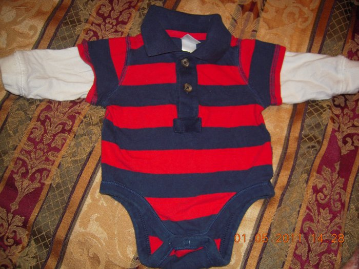 Old Navy Infant  2-in-1 Polo Bodysuit 0-3M