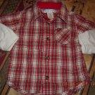 Old Navy Infant  2-in-1  Plaid Shirt 3-6M