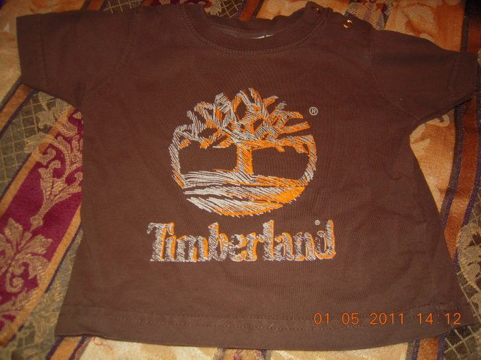 Infant Timberland Short Sleeve Shirt  6-9M