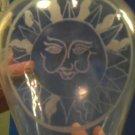Celestial sun plate or vase stencil