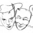 Drama mask stencils