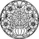 floer pot plate stencil