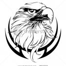 Tribal Eagle stencil