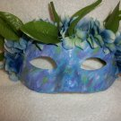 Face mask mardi gras masquerade Costume, Blue Green purple garden