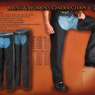 Mens and women's cinder chaps
