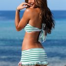 Striped bandeau top