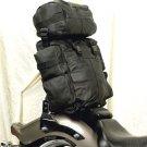 Motorcycle Sissybar Leather Travel Lugage Bag Tour Pack