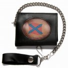 Motorcycle Biker Trifold Chain Leather Wallet Rebel 2