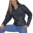 Ladies Heavy Duty Soft Leather Jacket w/ Braid, Lining & Gather Sides