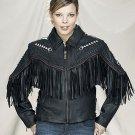 Ladies Jacket w/ Arrows, Fringes, Z/O Lining & Sidelaces