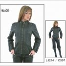 Black Butter Soft Ladies Jacket w/ Studs on Front & Back
