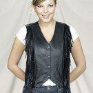 Ladies Vest Braid & Fringe on Front & Back, V-lace on Back