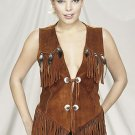 Ladies Western Vest w/ Fringe & Beads
