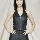 Ladies Halter Top w/ Braid & Zipper, Zipper Pockets