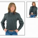 Ladies Soft Leather Jacket w/ Z/O Lining, Front & Back Airvents, Extra Removable Liner Jacket