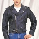 Mens Naked Cowhide MC Jkt, Airvent 1-Pc Back Z/O Lining, Sidelaces & Long Back