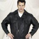 MC Jacket w/ Airvents & Z/O Lining, Heavy Soft Leather, Lamb Feel