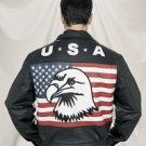 USA Flag Jacket w/ Eagle & Z/O Lining