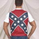 Mens Rebel Flag Vest w/ Snap