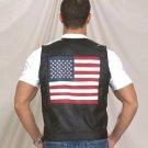 Mens USA Flag Vest w/ Snap
