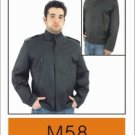 Mens Soft Leather Classic Racer Style Jacket, Z/O Lining, Airvents