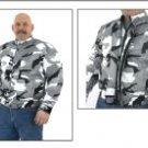 Mens Mesh & Nylon Camo Motorcycle Jacket MJ726