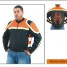 Mens Lightweight Jacket w/ Orange Flame on Back