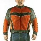 Mens Leather, Mesh & Nylon Motorcycle Jacket MJ699